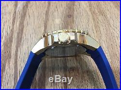 19270 Invicta Mens 52mm Aviator Voyage Quartz 18KT Gold-Plated Case Strap Watch