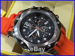 20072 Invicta 52mm Mens Speedway Swiss Quartz Chronograph Orange Strap Watch