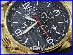 20135 Invicta Men's 46mm I Force Lefty Quartz Chronograph Leather Strap Watch