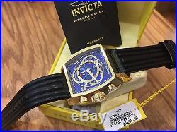 20243 Invicta S1 Rally Touring 48mm Men's Swiss Quartz 18KT GP Case Strap Watch