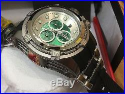 21813 Invicta Bolt Zeus 53mm Men Swiss Chronograph Green Dial Black Strap Watch