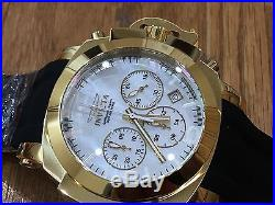 22278 nvicta 54mm Man of War Quartz Chronog Mother-of-Pearl Silicone Strap Watch