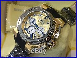 22441 Invicta 46mm Mens X-Wing Quartz Chronograph Black Silicone Strap Watch