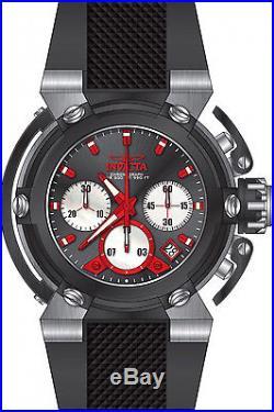 22442 Invicta 46mm Mens X-Wing Quartz Chronograph Black Silicone Strap Watch