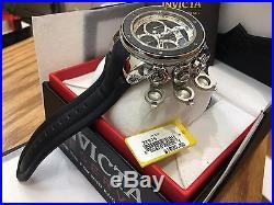 22939 Invicta Reserve Subaqua Sea Dragon Men's 52mm Quartz Leather Strap Watch