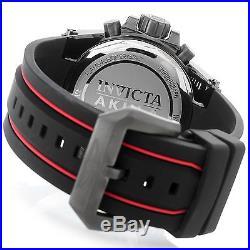 23107 Invicta Akula Men's 58mm Quartz Chronograph Black Silicone Strap Watch