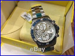 23994 Invicta Mens 45mm Pro Diver Quartz Silver Dial Two-Tone SS Bracelet Watch