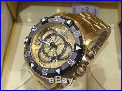 24266 Invicta Men's 52mm Excursion Quartz Chronograph Gold-Plated Bracelet Watch