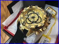 24273 Invicta Excursion 52mm Men's Quartz Multifunction 18KT GP Case Strap Watch