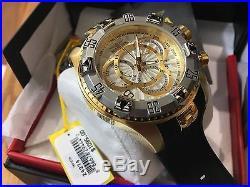 24274 Invicta Excursion 52mm Men's Quartz multifunction Silver Dial Strap Watch