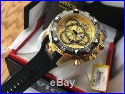 24276 Invicta Excursion 52mm Mens Quartz Chronograph Gold Dial Strap Watch Color