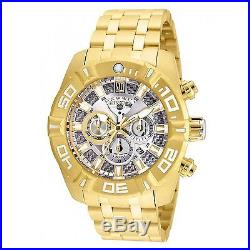 24846 Invicta Jason Taylor 51mm Men Quartz Chrono Gold-Plated SS Bracelet Watch