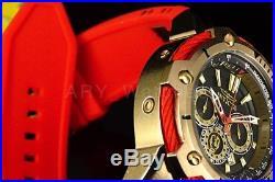 25684 Invicta Men's MARVEL IRON MAN Chronograph GoldTone S. Steel Silicone Watch