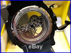26291 Invicta Mens 53mm Man of War Ghost Automatic Skeletonized Dial Strap Watch