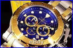 26498 Invicta Men's Coalition Forces Blue Dial Chrono 100m TwoTone Bracelet Watc