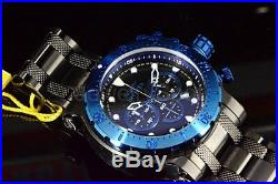 26506 Invicta Men's Coalition Forces 52MM Chronograph Black Dial Blue Bezel Watc