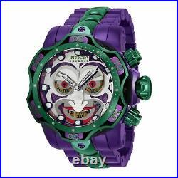35380 Invicta DC Comics Joker Venom 52mm Quartz Chrono Men Stainless Steel Watch