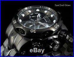 52MM Invicta Reserve Men's Venom ALL BLACK Quartz Chronograph Bracelet Watch
