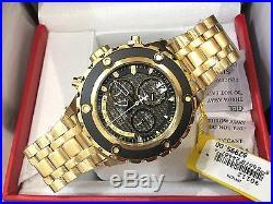 90112 Invicta Men 52mm Subaqua Quartz Stainless Steel Gold Plated Bracelet Watch