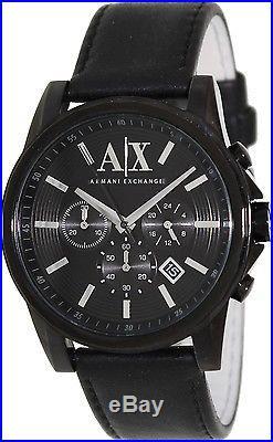Armani Exchange Men's AX2098 Black Leather Quartz Fashion Watch