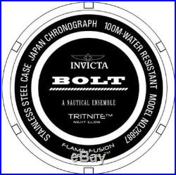 Genuine INVICTA Men's BOLT WATCH Stainless Steel Black/Gold New 25687
