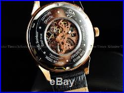INVICTA Men Sapphire Specialty Vintage Dragon Skeleton Mechanical 18KRG SS Watch