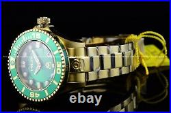 INVICTA Mens 47mm Grand Diver Gen 2 Automatic Gold Green Dial 300M SS Watch