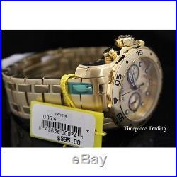 Invicta 0074 Men's Pro Diver Scuba Champagne Dial Gold Steel Bracelet Dive Watch