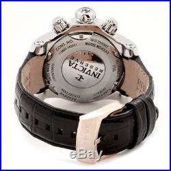 Invicta 0360 Men's Reserve Venom Chrono Black Leather Strap Watch