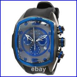 Invicta 10066 Men's Lupah Revolution Black Blue Dial Rubber Strap Chrono Watch