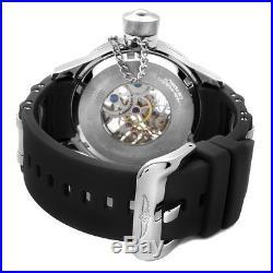 Invicta 1088 Men's Mechanical Skeleton Dial Black Rubber Watch