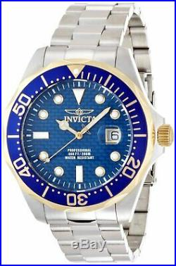 Invicta 12566 Men's Grand Diver Blue Carbon Fiber Dial Stainless Steel Bracelet