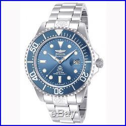 Invicta 13859 Men's Grand Diver Blue Dial Steel Bracelet Automatic Dive Watch