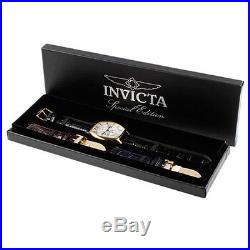 Invicta 14330 Men's Specialty Dual-Time Interchangeable Leather Strap Date Watch