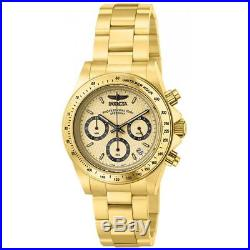Invicta 14929 Men's Speedway Chronograph Gold Dial Gold Plated Steel Dive Watch