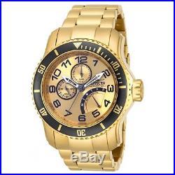 Invicta 15343 Men's Pro Diver Quartz Gold Dial Gold Plated Watch