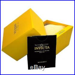 Invicta 17206 Men's Aviator Chrono Black Dial Gold Plated Steel Bracelet Watch