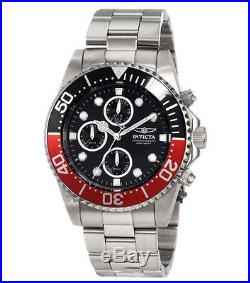 Invicta 1770 Men's Pro Diver Stainless Steel Black Dial Chronograph Dive Watch