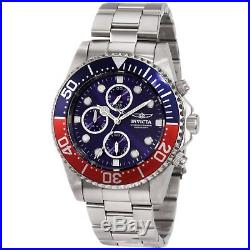 Invicta 1771 Men's Pro Diver Stainless Steel Blue Dial Chronograph Dive Watch