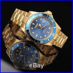Invicta 18507 Pro Diver Men's Swiss Made Automatic Dive Watch Gold $1495 NEW