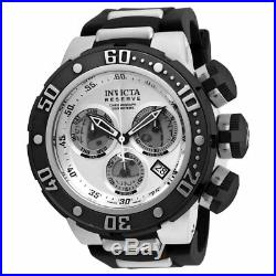Invicta 21640 Men's Reserve Silver Dial Steel & Silicone Strap Chronograph Watch