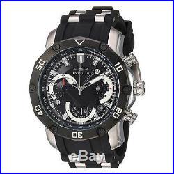 Invicta 22797 Men's Chrono Black Dial Steel & Silicone Band Watch