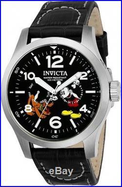 Invicta 22873 Men's Disney Limited Edition Leather Quartz Watch With 3 Slot Case