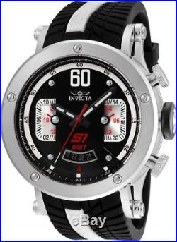 Invicta 24674 S1 Rally Men's 48mm Stainless Steel Black Dial Silicone Watch