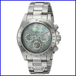 Invicta 24768 Mens Speedway White MOP Dial Chronograph Steel Bracelet Dive Watch