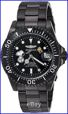 Invicta 24787 Character Collection Men's 40mm Black-Tone Steel Automatic Watch