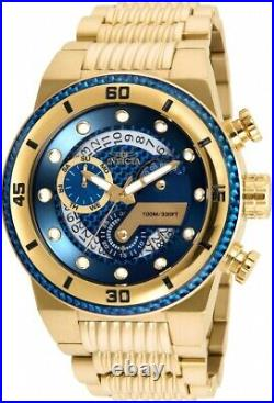 Invicta 25281 Men's S1 Rally Blue Glass Fiber Dial Yellow Gold Chronograph Watch