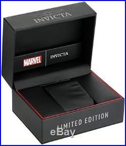 Invicta 25689 Marvel Spiderman Men's 52mm Black Steel Red/Blue Dial Watch
