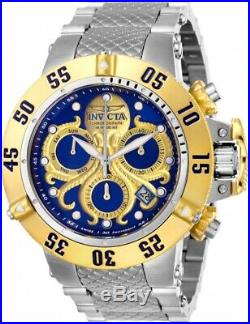 Invicta 26132 Subaqua Men's 50mm Two-Tone Stainless Steel Blue/Gold Dial Watch