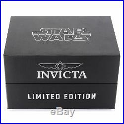 Invicta 26221 Star Wars Men's 50mm Chronograph Black-Tone Steel Black Dial Watch